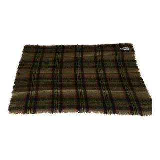 Irish Wool Plaid Throw