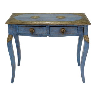 Indian Brass Inlaid Console Table