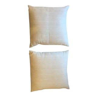 Ivory Textured Pillows - A Pair