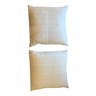Ivory Textured Pillows - A Pair