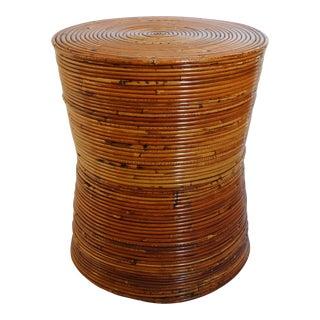 Vintage Italian Rattan Side Table