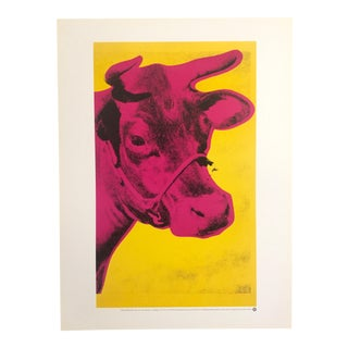 "Andy Warhol ""Pink Cow"" Original Offset Lithograph 1989"