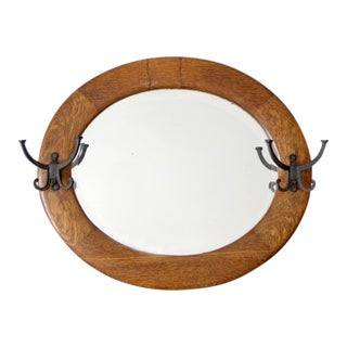 Antique Coat Hook Mirror