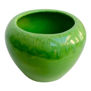 Vintage Green Drip Glaze Planter