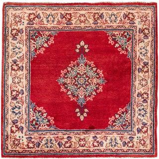 "Apadana - Vintage Persian Kerman Rug, 3'9"" x 3'11"""