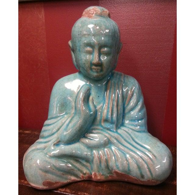 Turquoise Sitting Buddha Statue - Image 6 of 8