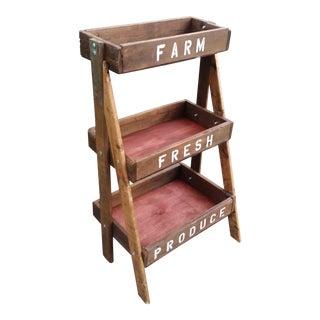 Farm Stand Shelf - 3 Tiers