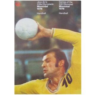 1976 Montreal Handball Olympic Poster