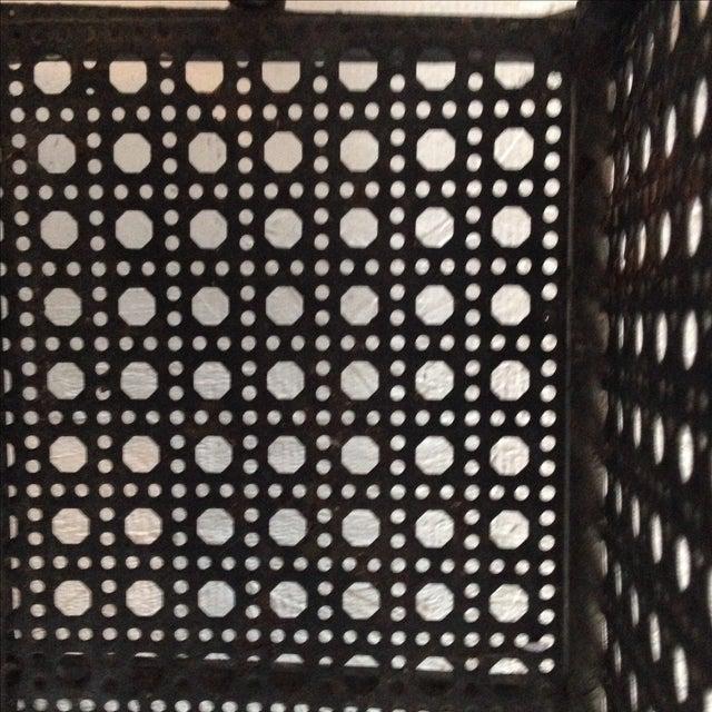 Perforated Black Metal Magazine Rack Side Table - Image 7 of 7