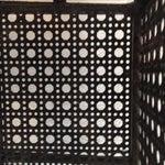 Image of Perforated Black Metal Magazine Rack Side Table