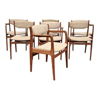 Scandinavian Style Teak Dining Chairs - Set of 7