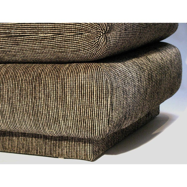 Marge Carson Modern Armless Lounge Chairs - A Pair - Image 5 of 7