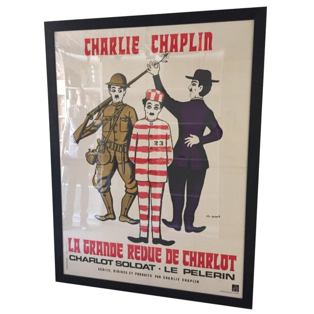 Vintage Charlie Chaplin French Film Poster | Chairish