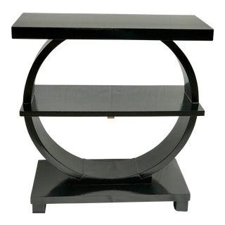 Modernage Art Deco Black Side Table