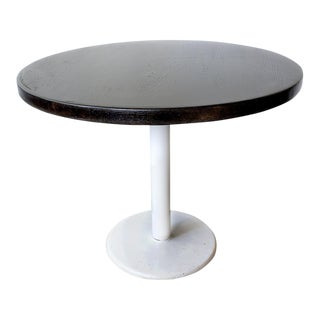 Vintage Ebonized Maple Top Cafe Table