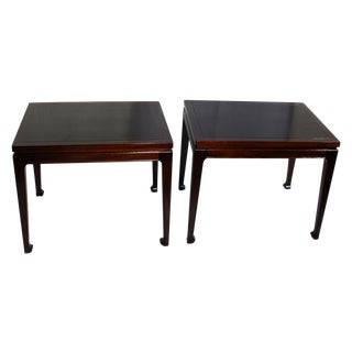 Mid-Century Modern Mahogany End Tables - A Pair