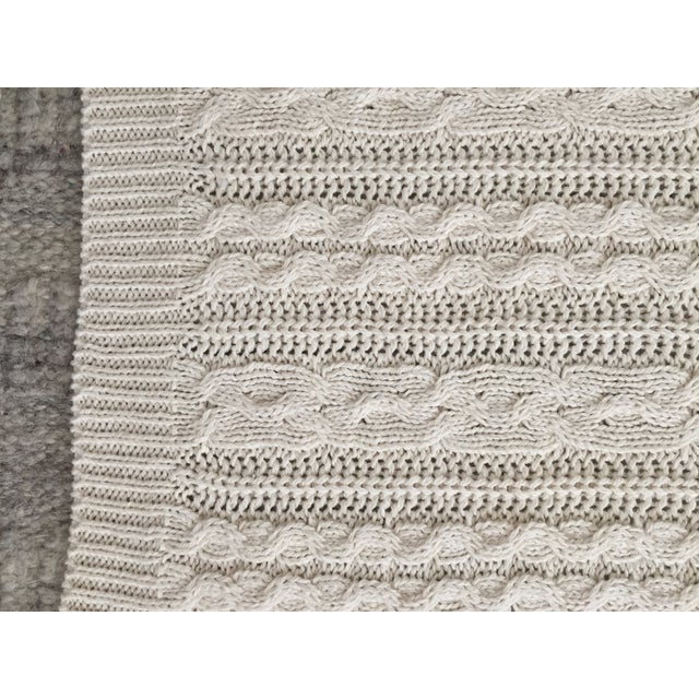 Ivory Cable Knit Throw - Image 3 of 3