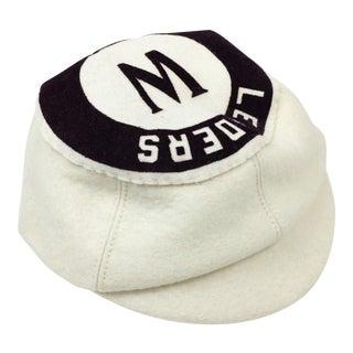 Antique Wool Short Bill Baseball Softball Ny Leaders Club Cap
