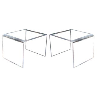 1960's Lucite Waterfall Tables - A Pair