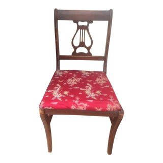 Red Upholstered Duncan Phyfe Chair