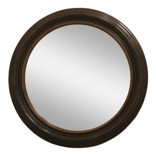 "Elegantly Detailed 36"" Round Mirror With Silver Specks"