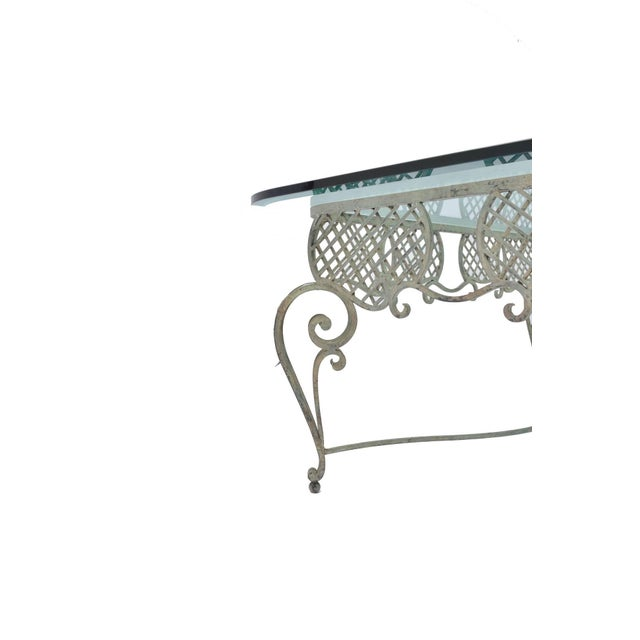 Iron Tole & Glass French Coffee Table - Image 3 of 4