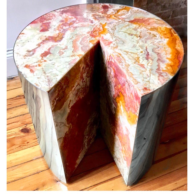 Pace Collection Red Jasper 'Pie' Side Table, 1970 - Image 2 of 9