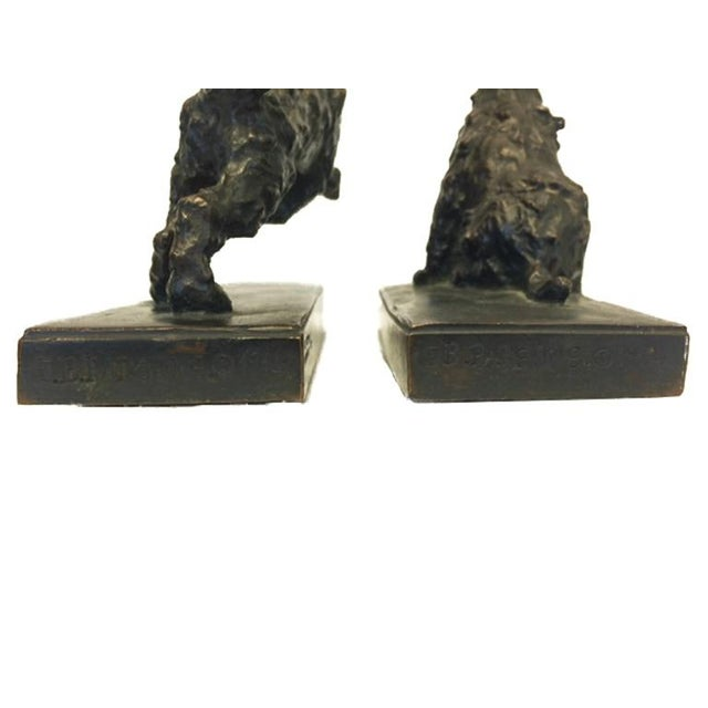Bronze Terrier Dog Bookends - A Pair - Image 5 of 6
