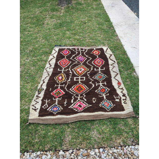 Azilal Moroccan Wool Rug - 4′5″ × 6′1″ - Image 2 of 7
