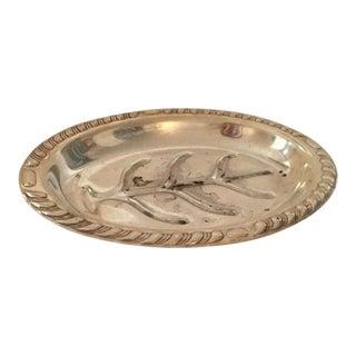 Silver Plated Leaf Decorative Trinket Bowl