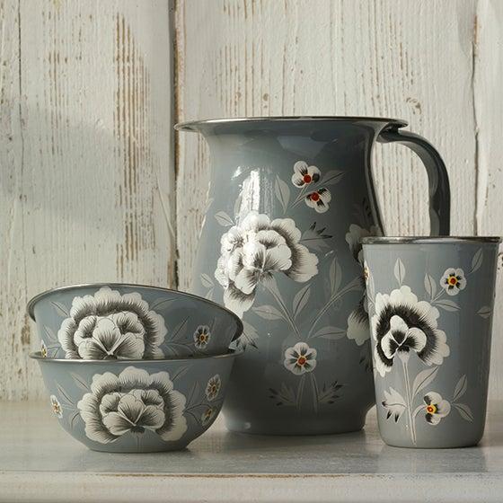 Image of Fleur Enamelware Tea Tin