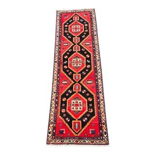 "Vintage Persian Hamadan Runner Rug - 2'11""x9'9"""