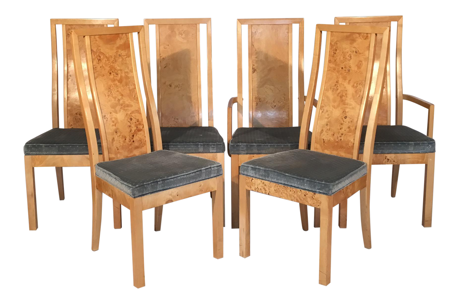 burlwood dining chairs by thomasville set of 6