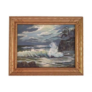 Coastal Seascape Oil Painting