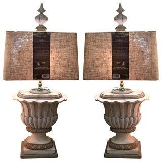 19th Century Urn Lamps - Pair