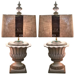 19th Century Urn Lamps - Pair