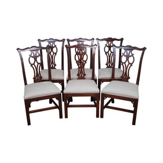 Ethan Allen Georgian Court Chippendale Style Dining Chairs - Set of 6