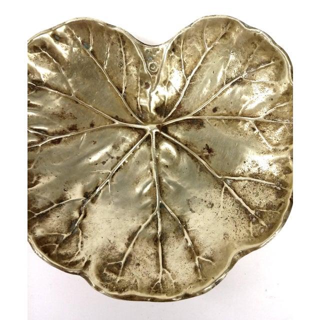 Image of Vintage Geranium 1948 Solid Brass Trinket Dish