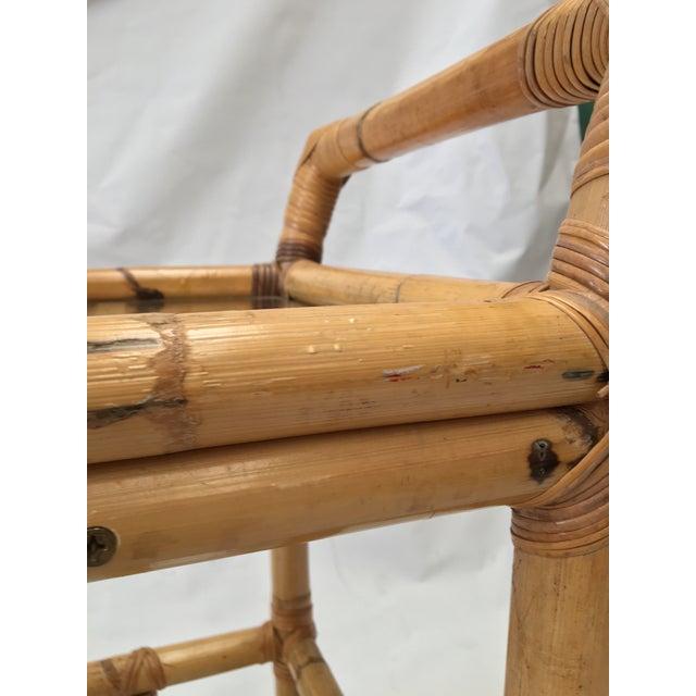 Image of Vintage Bamboo Bar Cart