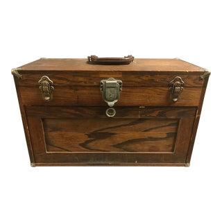 Vintage Six Drawer Wooden Jewelers or Gunsmith Box