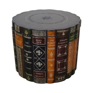 Maitland Smith Faux Book Round Leather Box