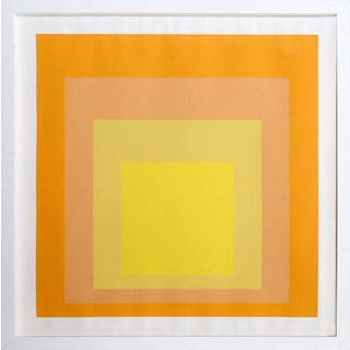 "Josef Albers ""Interaction of Color: Homage to the Square"" Screen Print"