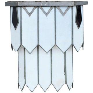 Art Deco Leaded Glass Chandelier