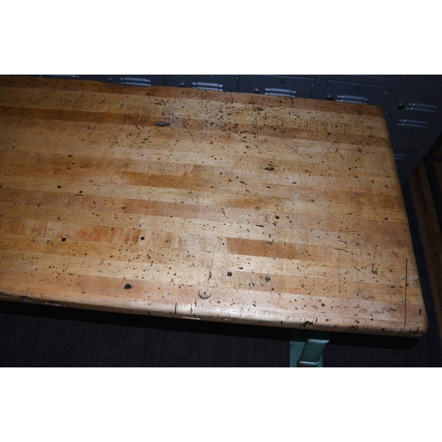 Industrial Maple Top Work Table - Image 9 of 10