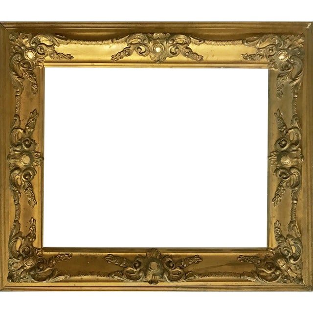 Antique Gilt Carved Picture Frame - Image 1 of 5
