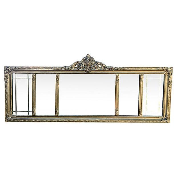 Antique Carved Wood Mantel Mirror - Image 3 of 7