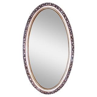 Oval Gilt Silvered Syroco Mirror