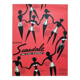 Jean Jacquelin 1953 Scandale Lingerie Ad