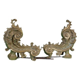 Pair of French Chenets / Andirons circa 1900