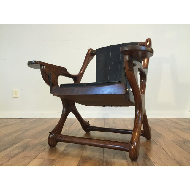 Don Shoemaker Studio Rosewood Swing Chair - Image 4 of 11